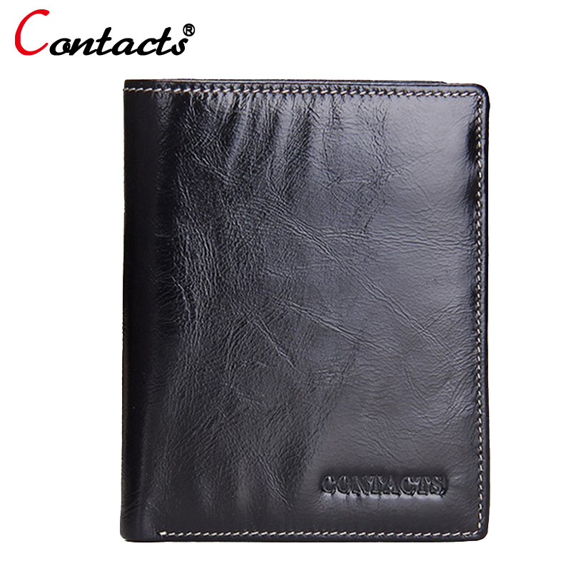 CONTACT'S Famous Brand Genuine Leather Men Wallets Male Clutch Slim Wallet Small Credit Card Holder Coin Purse Money Cardholder men wallet fashion leather purse credit card holder dollar wallet male small wallet short money purses male clutch wallets