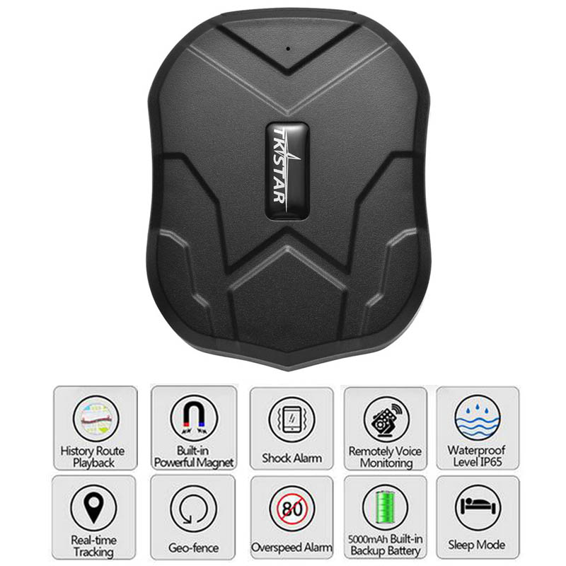 Tracking Device For Car >> Us 36 47 26 Off Tk905 Car Gps Tracker 5000mah Battery Standby 90 Days Vehicle Tracking Device Gsm Locator Waterproof Magnet Free Web App Monitor In