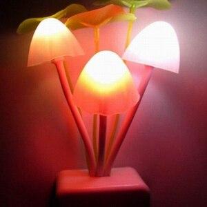 Image 4 - Nieuwigheid Creatieve Nachtlampje Eu/Us Plug Licht Sensor 3 Led Kleurrijke Mushroom Lamp AC110V 220V Night Lights voor Baby Lampen Ac