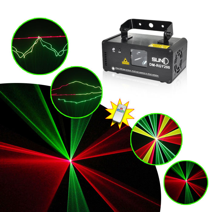 Remote 200mW RGY Laser Stage Lighting 8 CH DMX 512 PRO Scanner DJ Party KTV Show Projector Equipment LightRemote 200mW RGY Laser Stage Lighting 8 CH DMX 512 PRO Scanner DJ Party KTV Show Projector Equipment Light