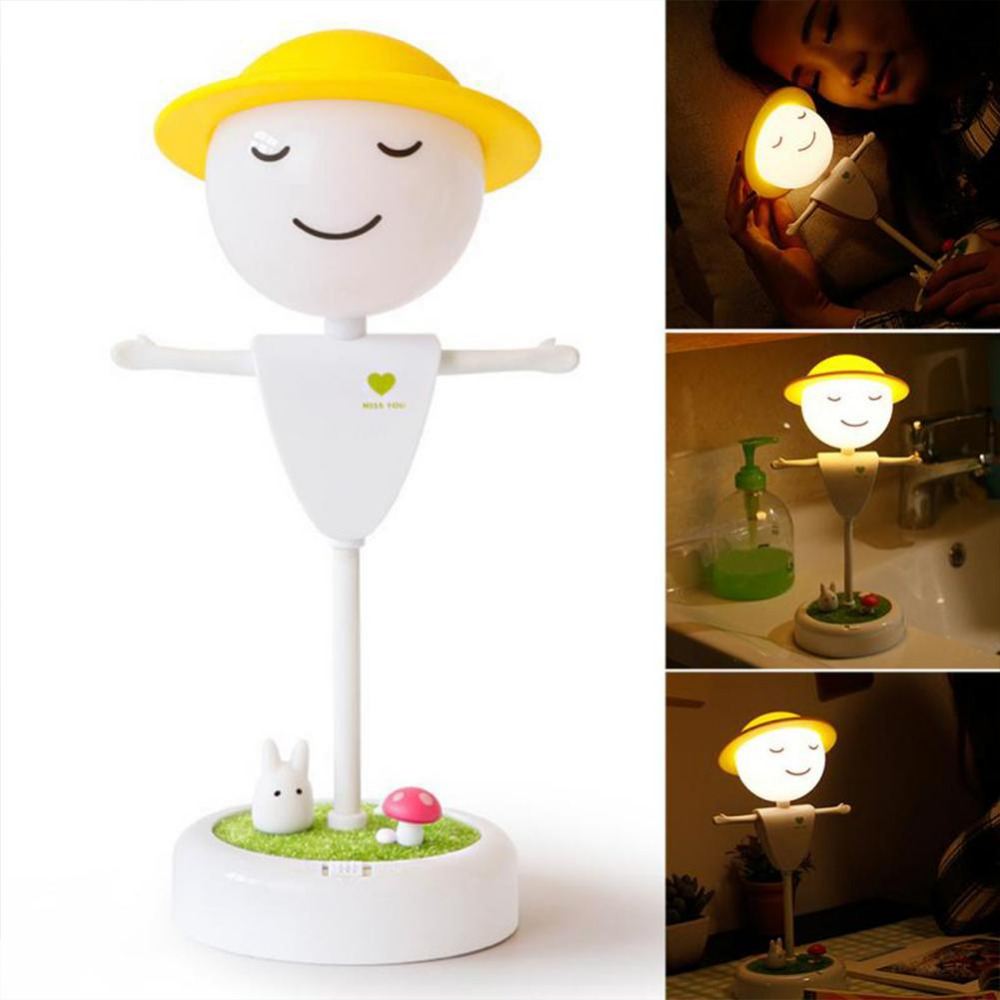 Led Night Light Creative Scarecrow Sensor Nightlight for Children Bedroom USB Night Lamp With Timer Dimmable Touch For Baby litake dimmable hot air balloon led night light children baby nursery lamp with touch switch usb rechargeable wall lamp