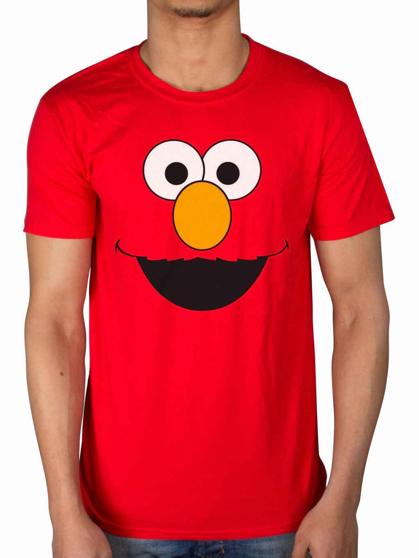2fa0cbe4 Official Sesame Street Elmo T-Shirt Early Bird Grover Ernie Oscar Cookie  Monster Cool Casual