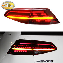 Car Styling case for Volkswagen VW Golf 7 MK7 Golf7 2013-2015 GTI R20 taillights TAIL Lights LED Rear Lamp dynamic turn signal