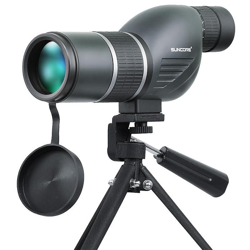 SUNCORE 12-36x50S Monocular Telescope HD Optic Zoom Lens Ergonomic Anti-slip Design Telescopio for Hunting Bird Watching Concert suncore water resistant 12 x 25mm monocular telescope