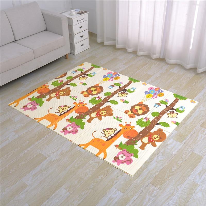 Infantile Brillant Pliable Bébé Jouer Mat Pliage Ramper Pad XPE Bébé Chambre Tapis Enfants Tapis de Sol 200*180 cm tapis de jeu pour Nourrissons