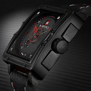 Image 4 - Naviforceメンズクォーツスポーツウォッチファッショントップブランドの革ストラップクリエイティブ防水腕時計男性時計レロジオmasculino
