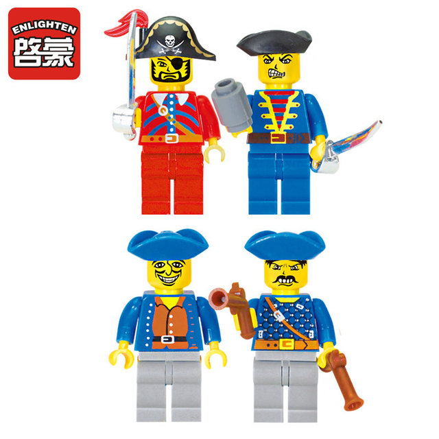Enlighten 188Pcs Pirates Of Caribbean Bricks Bounty Pirate Ship Compatible LegoINGLY City Building Blocks Sets Toys for Children 2