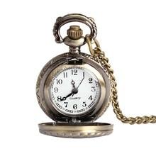 Three Plum Flower Sample Classic Retro Quartz Pocket Watch Males ladies Classic Silver Pendant Watch Present