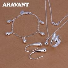 Jewelry-Sets Ring-Bracelets Earring Necklace Gifts 925-Silver Women Luxury Brand