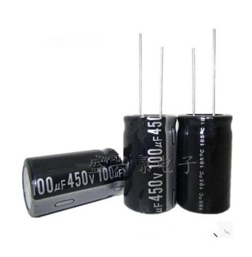 Электролитические конденсаторы, 10 шт., 450 в, 100 УФ, 18 мм х 35 мм, высокое качество|electrolytic capacitors|450v 100ufcapacitor electrolytic | АлиЭкспресс