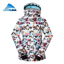ใหม่สตรีฤดูหนาวกันน้ำW Indproofเล่นสกีสโนว์บอร์ดแจ็คเก็ตกลางแจ้งหิมะเดินป่าตั้งแคมป์กีฬาเบาะเสื้อเสื้อผ้าประมง
