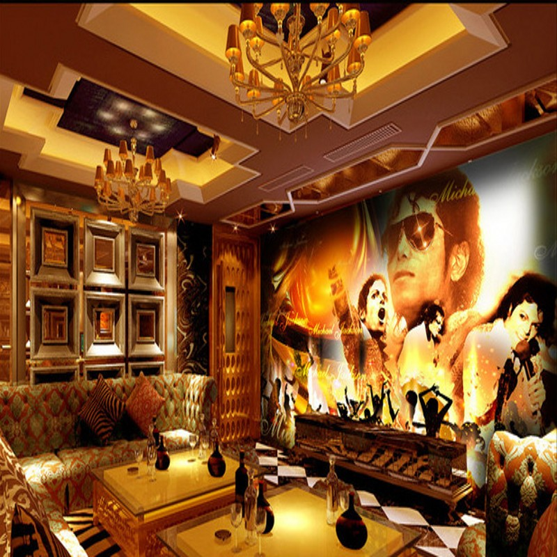 Beibehang Michael Jackson Theme Ktv Box Cool Decorative Background Large Mural Seamless Wall Covering Papel De Parede Wallpaper