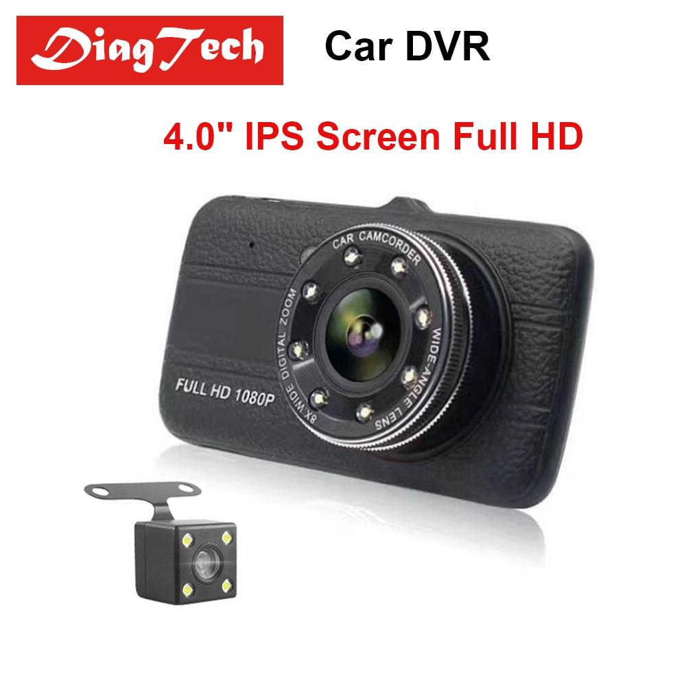 все цены на Gryan 4.0 Inch IPS Screen Car DVR Camera Dual Lens Dash Cam Full HD 1080P Vehicle Night Vision Dvrs With Backup Rear View Camera