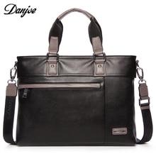 DANJUE divat valódi bőr férfi táska táska Híres márka férfi üzlet Laptop táska Kiváló minőségű alkalmi férfi váll táskák