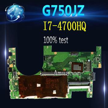 Amazoon  G750JZ Onboard I7-4700HQ CPU mainboard For ASUS G750JZ G750JY G750J laptop motherboard 60NB04K0 100% Test free shipping