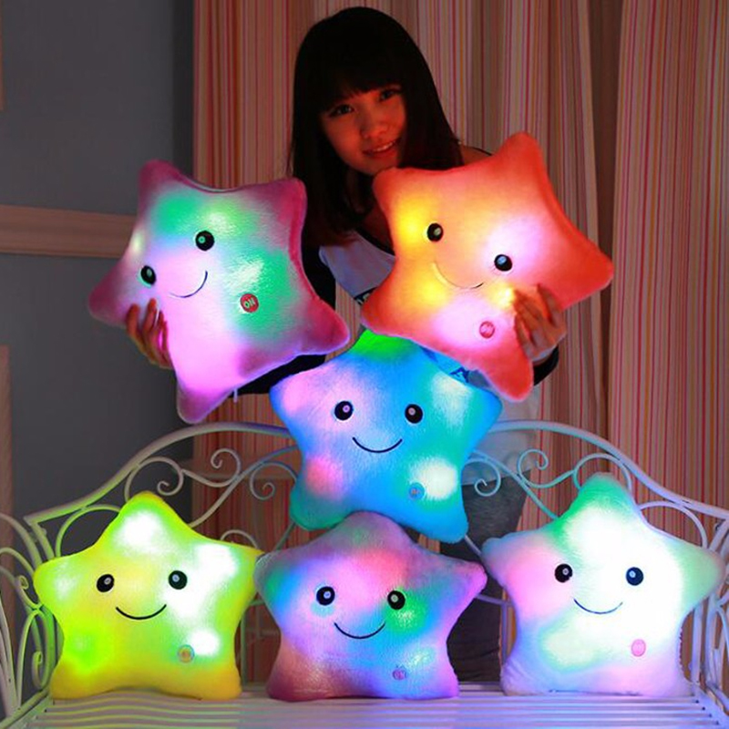 4035cm bright light up throw pillows stuffed dolls led stars plush 4035cm bright light up throw pillows stuffed dolls led stars plush toys for kids soft cosy cushion luminous christmas toys in cushion from home garden on aloadofball Choice Image