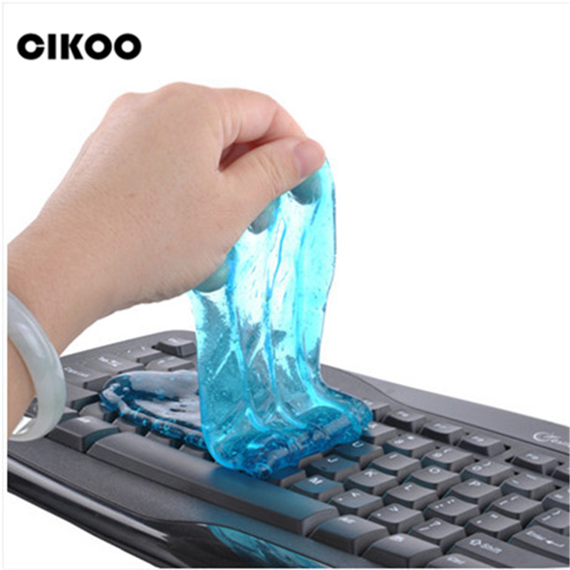 2018 Glue For Slim Funny Toy Dust Cleaning Glue Slimy Wiper For Keyboard Laptop Car Cleaning Sponge Car Accessories magic slime fashion windproof blue flame gas butane lighter purple transparent