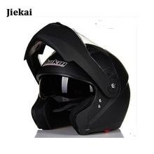 New Jiekai 115 flip up motorcycle helmet men full face moto helmet double lens with inner sun visor helmet  everybody can use