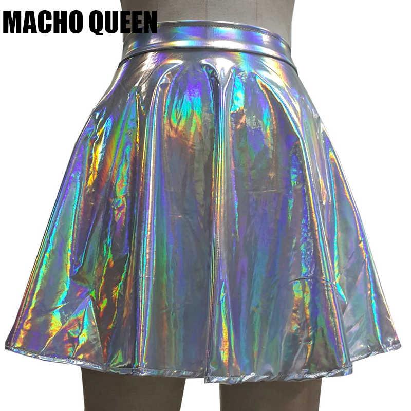 hologram Skirt costume Irridesent Skirt EDC Unicorn Skirt featival clothing,Halloween rave wear,rave Sequin Skirt Mermaid Mini Skirt