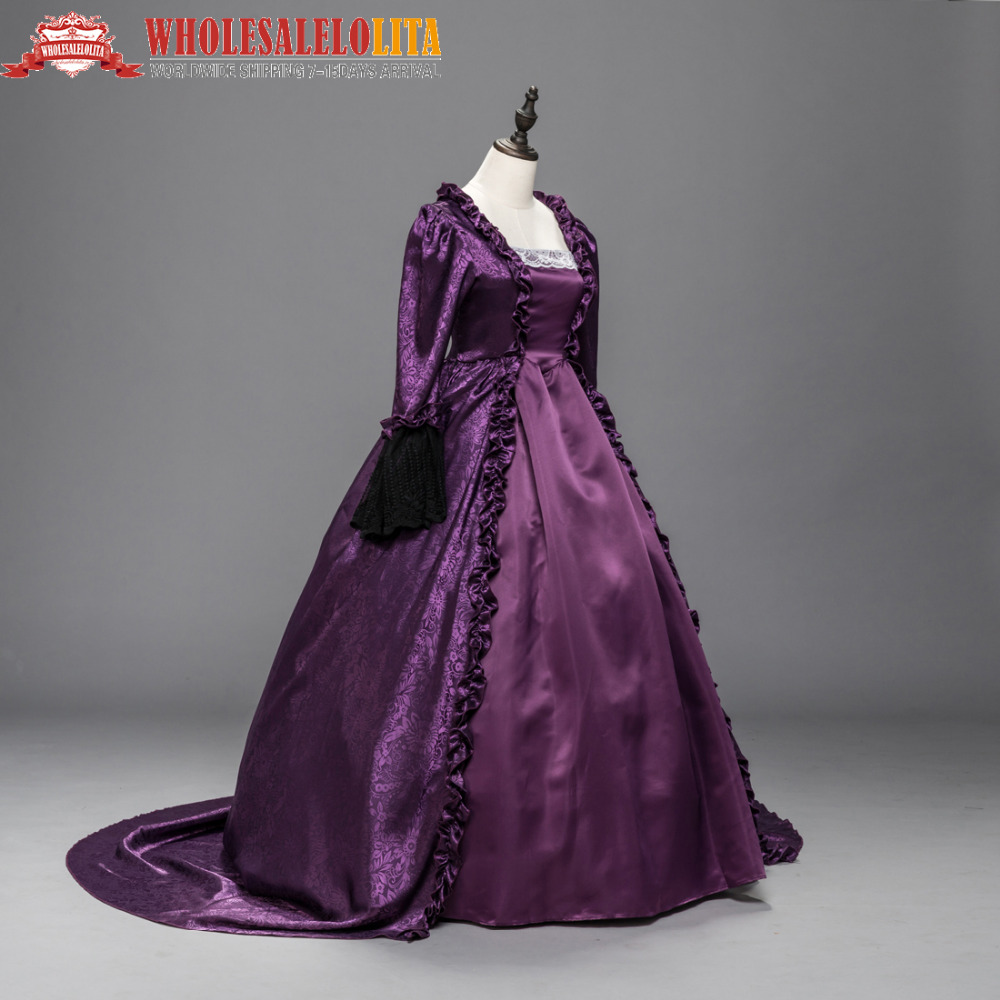 PURPLE Marie Antoinette Renaissance Dress Ball Gown Steampunk ...