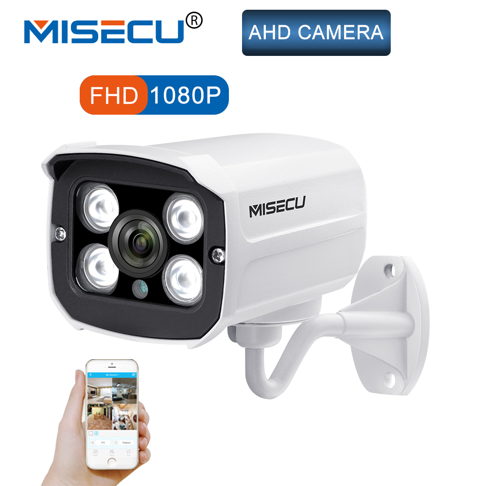 MISECU 1080 p 2.0MP Full HD CCTV AHD IP66 Im Freien Wasserdichte Metall Gewehrkugel Sicherheit Überwachung CCTV Kamera 4 stücke Array IR LEDS