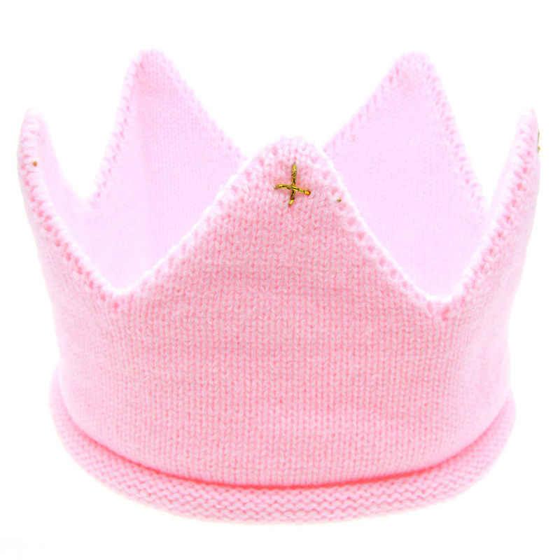 2017 Venta caliente nueva moda 5 colores bebé sombrero MUQDEW niños gorra nuevo lindo bebé niños niñas corona diadema de punto sombrero envío rápido