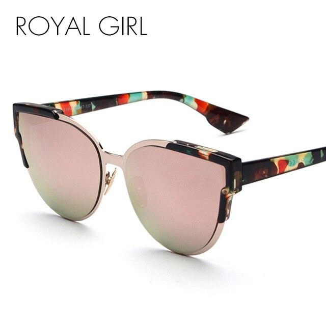 Royal girl date de mode cat eye lunettes de soleil femmes classique marque  designer miroir réfléchissant 4e8ad568425c