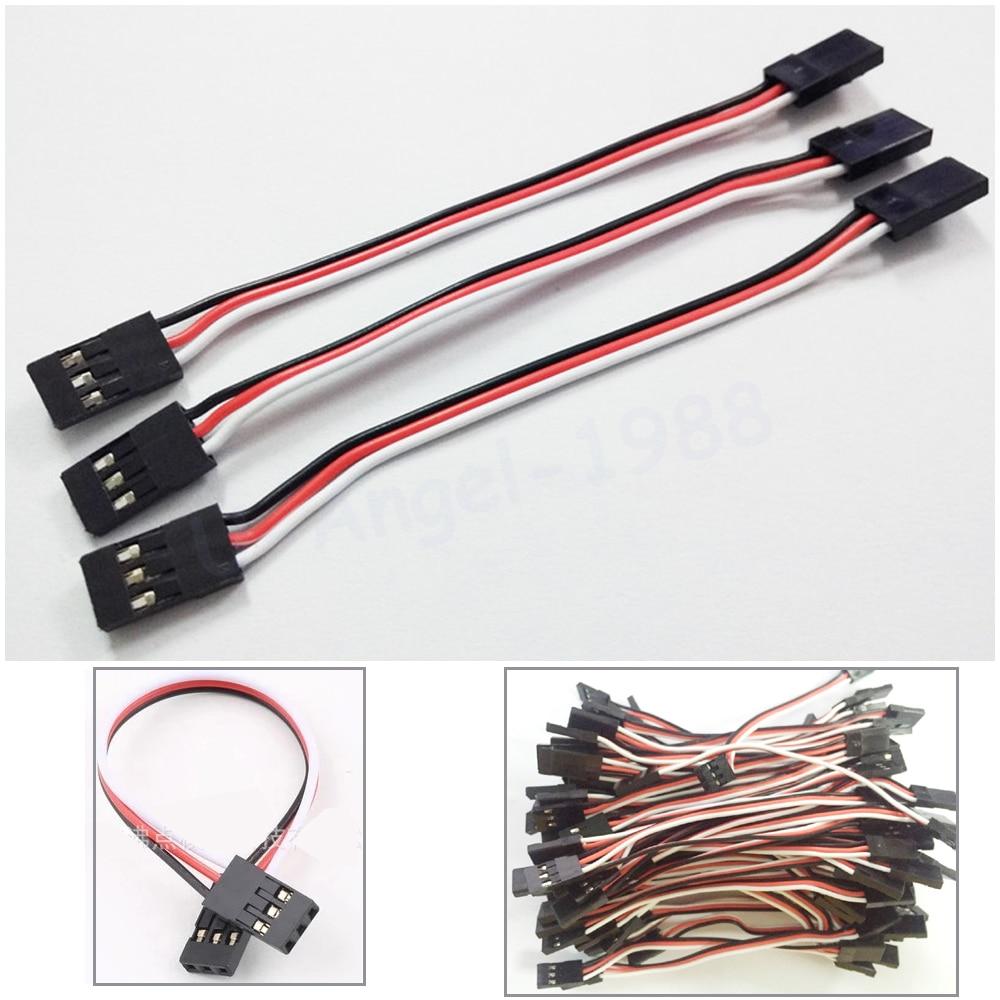 100pcs/lot 10CM 15CM 20CM 30CM Male To Male JR Plug Servo Extension Lead Wire Cable 100mm For RC Plane Quadcopter