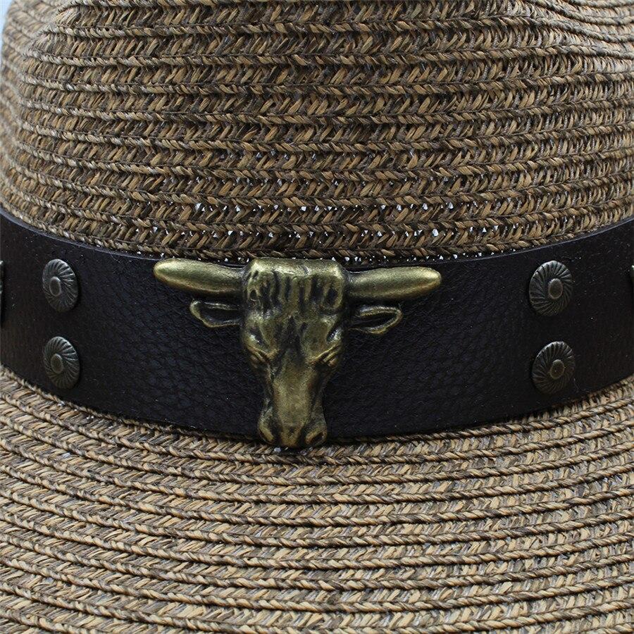 Chapeaux western creux en paille