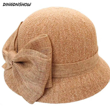 [DINGDNSHOW]Fashion Sun Hat Wide Brim Women Straw Ladies Summer Cap Bow Beach