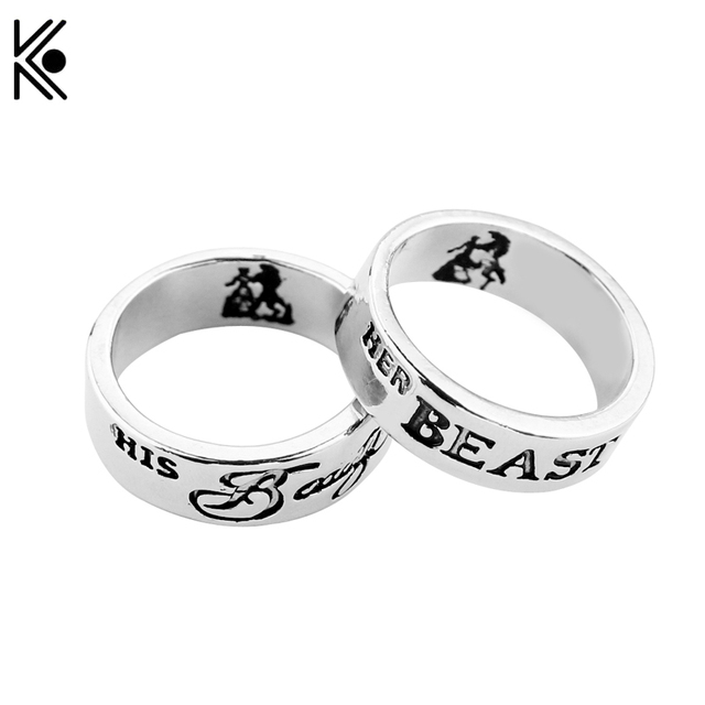 Beauty And The Beast Ring In Rings His Beauty Her Beast Engagement