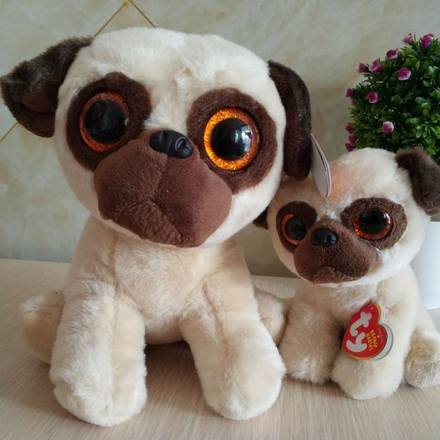 Rufus pug dog 15cm and 25cm 10 inch Ty classic Plush Toy Stuffed Animal  Soft Kids Toy Christmas Gift Hot Sale cd7871df3