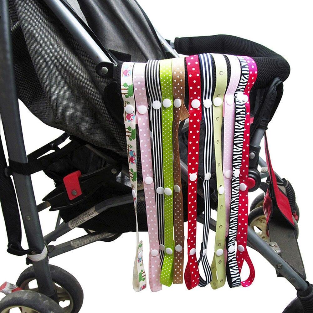 Inant Print Pacifier Chain Newborn Baby Boys Girls Anti-Drop Hanger Belt Holder Toddler Toys Stroller Strap Car Pacifier Chain