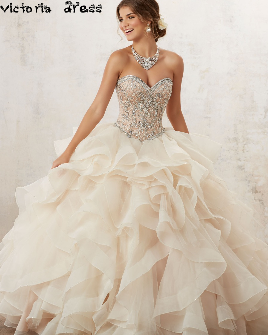 Popular Champagne Quinceanera Dresses Buy Cheap Champagne