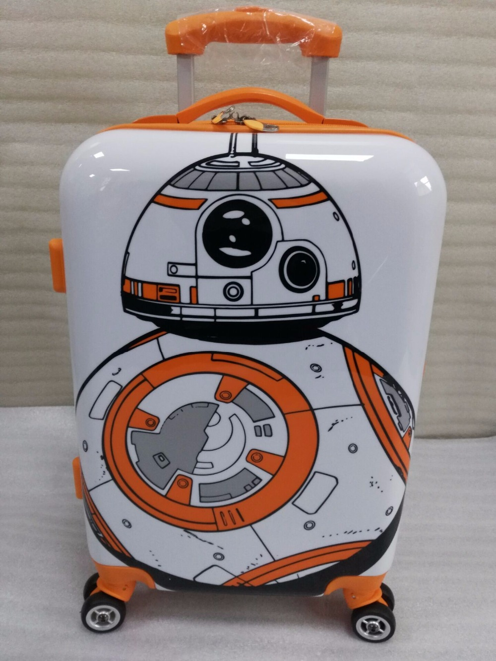 STAR WAR BB8 Robot  Rolling Luggage Spinner Travel Suitcase girls boys gift handside luggageSTAR WAR BB8 Robot  Rolling Luggage Spinner Travel Suitcase girls boys gift handside luggage