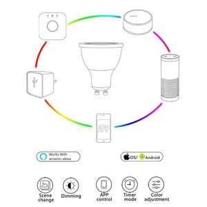 Image 2 - GLEDOPTO zigbee ww/cw dimmer GU10 bulu  LED spotlight 5W ZLL smart APP controll  AC100 240V  cool white and warm white led bulb
