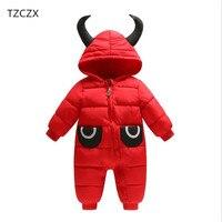 TZCZX-9720 Nuovo Ragazzi Delle Neonate Bambini Dei Pagliaccetti del cotone Solido Con Cappuccio tuta Per 6 Mesi a 2 Anni I Bambini Indossano vestiti