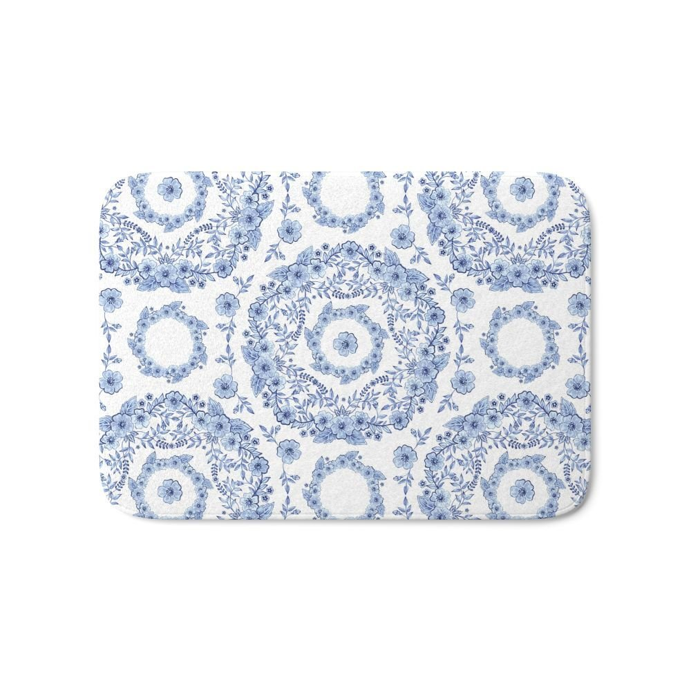 White Kitchen Floor Mats: Aliexpress.com : Buy Blue Rhapsody On White Bath Mat Anti