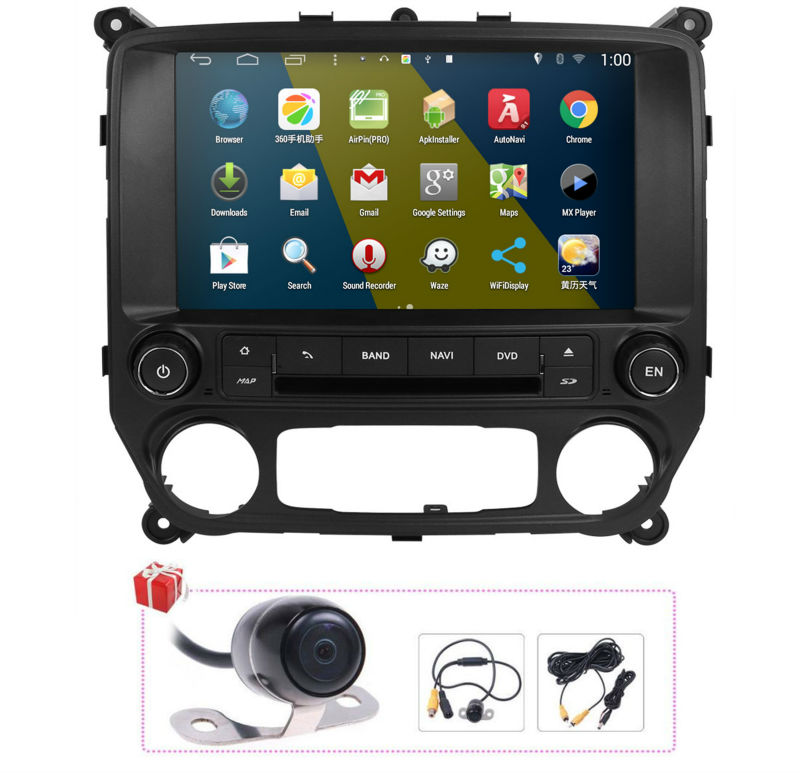 Free Map+Camera Android 4.4 Autoradio DVD GPS Navigation
