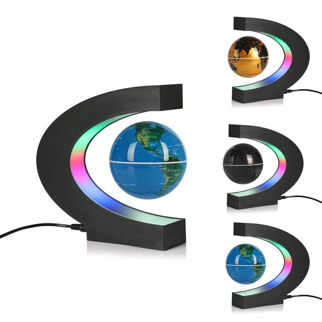 USB illuminating school teaching supplies suspension anti-gravity earth magnetic levitation globe home desk decoration 5