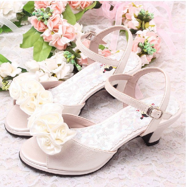 wedding flower girl shoes flower ivory bridal wedding sandals summer 9504