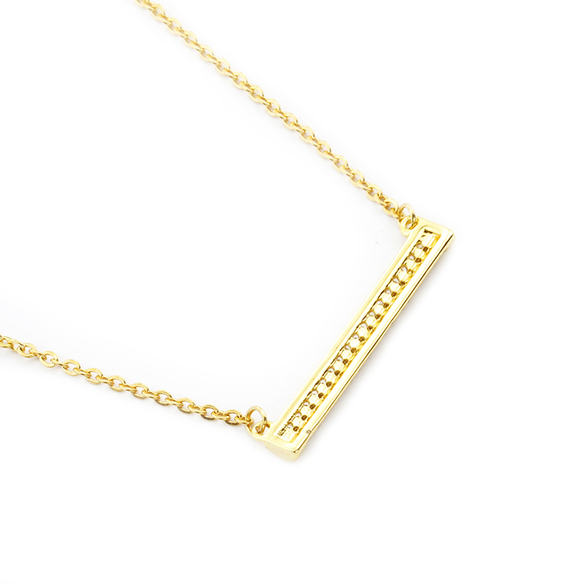 bar necklace rose product horizontal gold