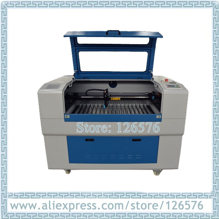 6090 laser gravur und schneiden maschine 600x900mm CO2 Laser rohr für glas, MDF, leder