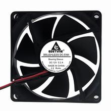 5 PCS Gdstime 80x80x20mm 80mm 12V 2Pin DC Brushless Cooling Cooler Fan