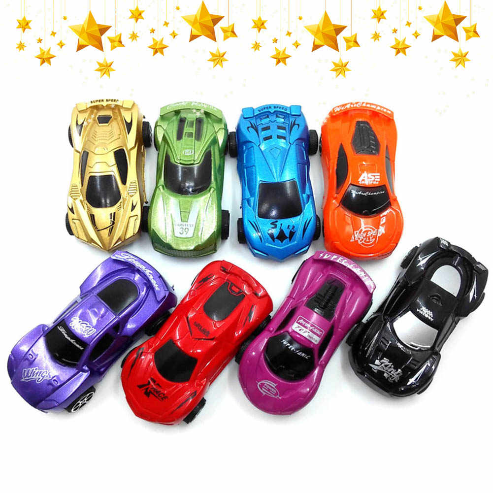 Mini Pull Back Simulation Car Toy Plastic Cartoon Cute Kids Car Model Toy`Kids Gifts Random Color