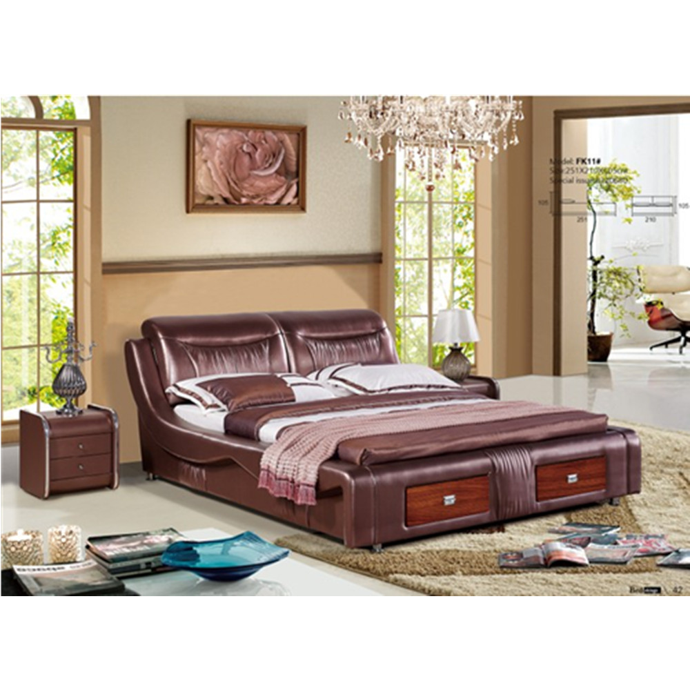 0402 Modern Luxury Design Royal Leather Bed Designs Aliexpress