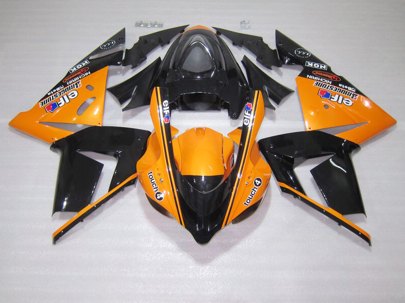 Custom Painted Fairing Kits For Kawasaki ZX10R 2004 2005 NINJA ZX 10R 04 05 Orange Black