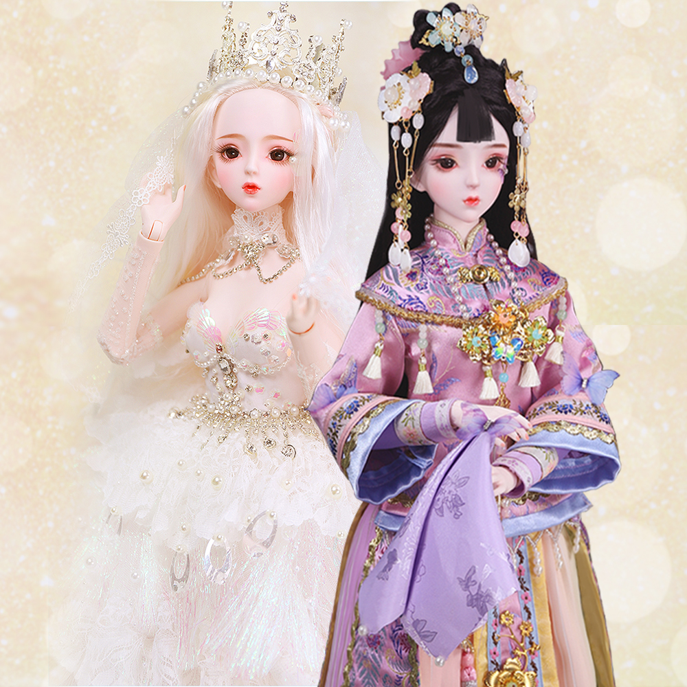 DBS 1/3 BJD Blyth Doll Name By Narang &Angela Mechanical Joint Body With Makeup,Including Hair,eyes,clothes 62cm Height Girls,SD