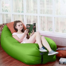 Inflatable Sofa Hangout Furniture Beach Camping Compression Lounger Sleeping Bed