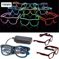 LED Eyewear Shades EL Wire Glasses Light Up Glow Colorful Costume For Nightclub Party Hot